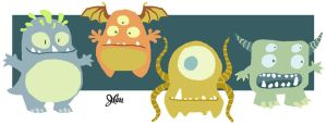Odd Little Monsters by jerrycarr