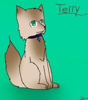 Terry the dog by Brichi