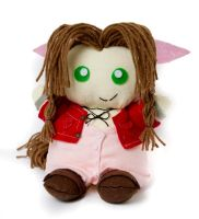 Aerith Plushie Commish front by theaquallama