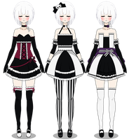 Formal Dresses ( Gothic Version ) by LilyKai12