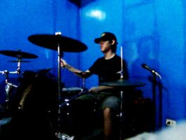 drumming with my restored kit by silverlife