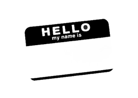 hello my name is.... by xxgasmaskxx