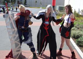 Cloud, Sephiroth and Tifa by xXxHannahxXx