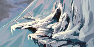 Ice Cave p1 concept by Renevatia