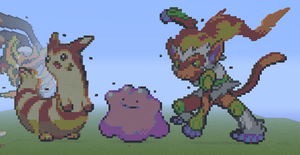 Furret, Ditto, Infernape and .... :3 by Natto1995