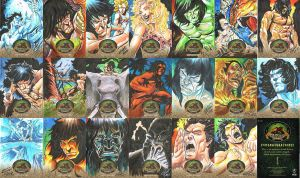 TARZAN SKETCH CARDS by jerkmonger