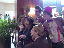 Oh those silly Doctors and there antics at AN2012 by FUBARProductions