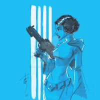 12x12 Princess Leia ANH SLC by Hodges-Art