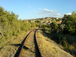 Railway to Ile Rousse by nyc0