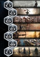 Assassins Creed: boxset design: back cover 2 by GingerJMEZ