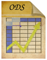 Steampunk ods spreadsheet file icon by pendragon1966