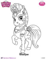 Stripes the zebra Princess Palace Pets by SKGaleana