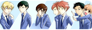 ouran high school host club by momijigirl