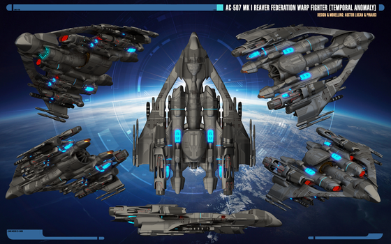 Overview | Mk I Reaver Federation Warp Fighter by Auctor-Lucan