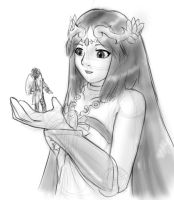 Palutena and Pit by AlloyRabbit