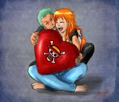 Mugiwara's heart by Jeannette11