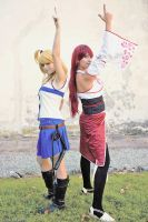 Lucy and Erza Fairy Tail - Guild by xRika89x
