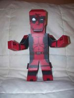 Deadpool paper hero by SharkBomb