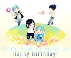 Happy Birthday to AOBA and SEI and Ren! by sleeping-pig