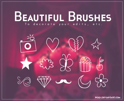 {Beautiful brushes} by Poqi