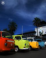 Colorful Volkswagen HDR by Blissedsoul