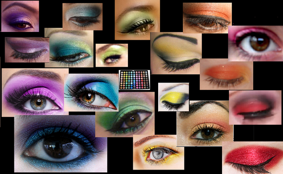 Eyeshadow Collage by xLouder-Now