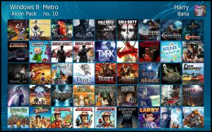 Windows 8 Metro Aicon Pack 10 by HarryBana