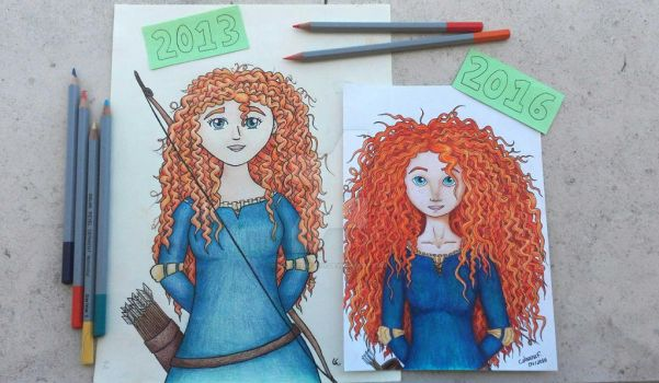 Draw This Again Challenge: Merida by catarinaf101