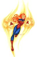 Firestar - Hand-Colored by JamieFayX