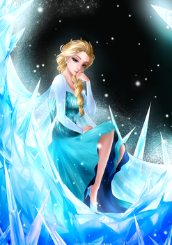 Elsa the Snow Queen by yuuike