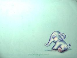 Little elephant wallpaper 1024x768 by SeeTheMagic