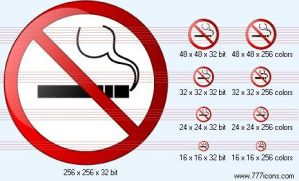 No smoking Icon by phorago
