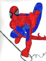 Swingy Spidey by Sonic-Spider