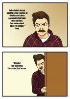 Ron Swanson and Scavenger Hunts by jHYtse
