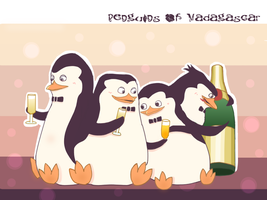 The Penguins of Madagascar- Champagne by skivategg