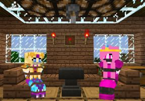 Two princesses kidnapped by MinecraftDiD