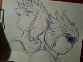Roxas and Ventus by Pon3Splash