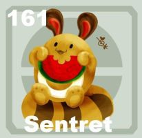 161 Sentret by Pokedex