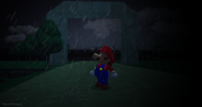 SM64 Wallpaper - Rain by Irham7762