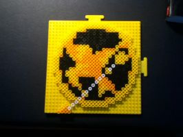 Hunger Games - Mockingjay 8 bit Perler Beads by Bytebullet