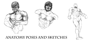 [Usable As References] Anatomy Poses And Sketches by Dex91