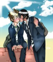 - Tsuna x Lambo - by sexy-colours