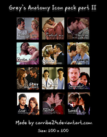 Grey's Anatomy Icon Pack II by Carribe24