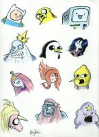 Adventure Time Peeps by johnnyism