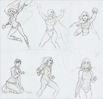 DCWomen_Sketch by thetetine