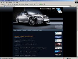 BMW Club Belarus website by DarckBMW