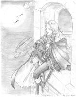 Alucard at the castle by IvyMomo