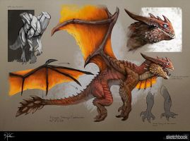 Dragon Design Sketch by churro818