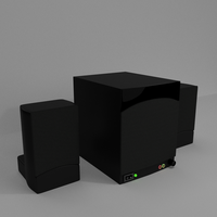 Speakers and a Subwoofer by paintevil