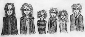 Potter Line Up by MichellePrebich
